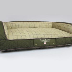 George Barclay Country Sofa Bed - Olive Green, Large - 120 x 75 x 27cm