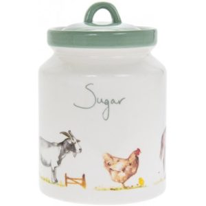 COUNTRY LIFE FARM CERAMIC SUGAR CANNISTER