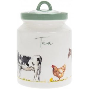 COUNTRY LIFE FARM CERAMIC TEA CONTAINER