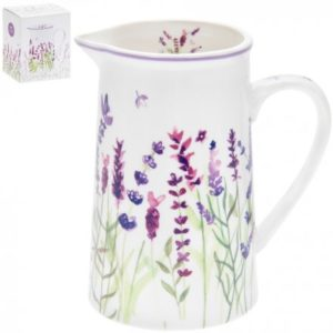 PURPLE LAVENDER CERAMIC JUG