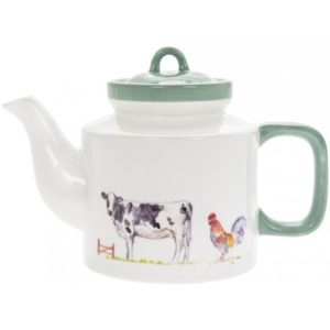 COUNTRY LIFE FARM CERAMIC TEAPOT