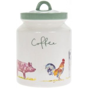 COUNTRY LIFE FARM CERAMIC COFFEE CANNISTER