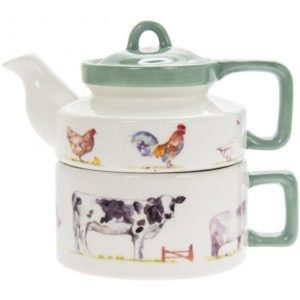 COUNTRY LIFE FARM CERAMIC TEA FOR ONE