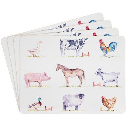 COUNTRY LIFE FARM SET OF 4 PLACEMATS