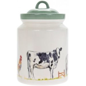 COUNTRY LIFE FARM CERAMIC BISCUIT BARREL