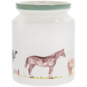 COUNTRY LIFE FARM CERAMIC UTENSIL STORAGE JAR