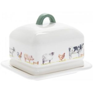 COUNTRY LIFE FARM CERAMIC BUTTER DISH