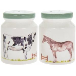 COUNTRY LIFE FARM CERAMIC SALT & PEPPER POTS