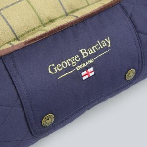 George Barclay Country Orthopaedic Box Bed - Midnight Blue, Small - 60 x 50 x 27cm