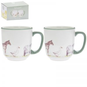 Country life farm ceramic mug