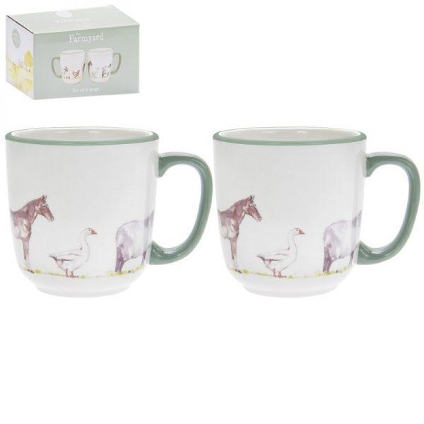 Country life farm ceramic mug