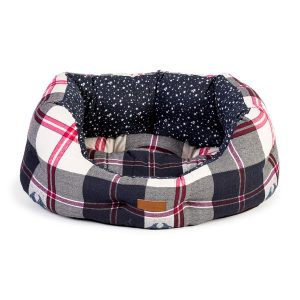 Danish Design FatFace Penguin Check Dog Slumber Bed