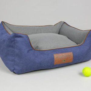 George Barclay Beckley Orthopaedic Box Bed - Navy / Ash, Medium - 75 x 60 x 30cm