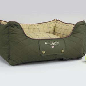 George Barclay Country Box Bed - Olive Green, Small - 60 x 50 x 27cm