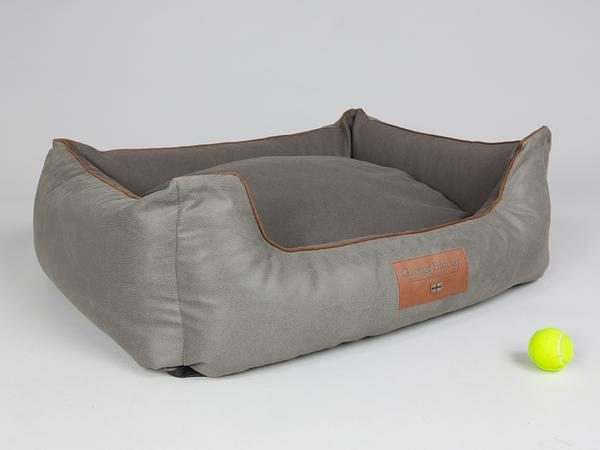 George Barclay Beckley Orthopaedic Box Bed - Taupe / Chestnut, Large - 90 x 70 x 33cm