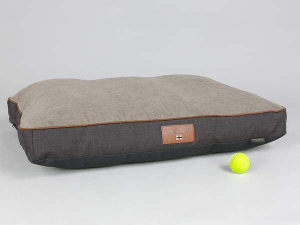 George Barclay Hyde Mattress Bed - Espresso / Latte, Large - 100 x 70 x 10cm