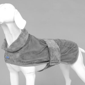 MUTTMOP DOG DRYING COAT, JACKET, Robe Grey