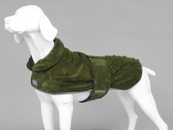 MUTTMOP DOG DRYING COAT, JACKET, ROBE Green