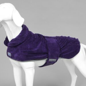 MUTTMOP DOG DRYING COAT, JACKET, ROBE Plum