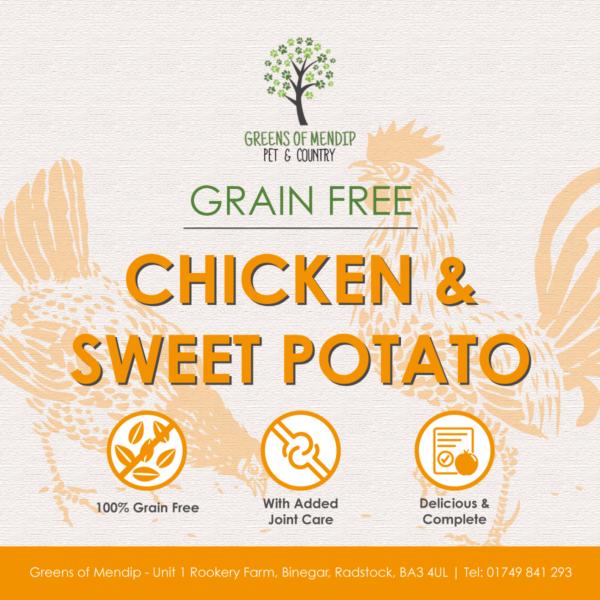 Grain Free Chicken and Sweet Potato