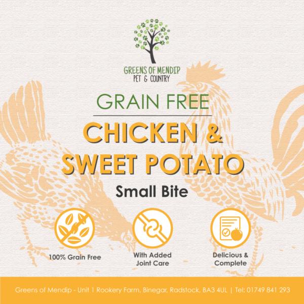Grain Free Chicken and Sweet Potato Small Bite