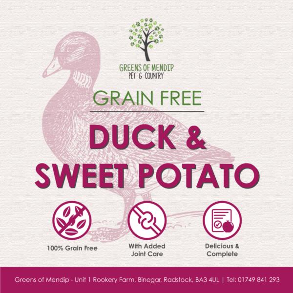 Grain Free Duck and Sweet Potato