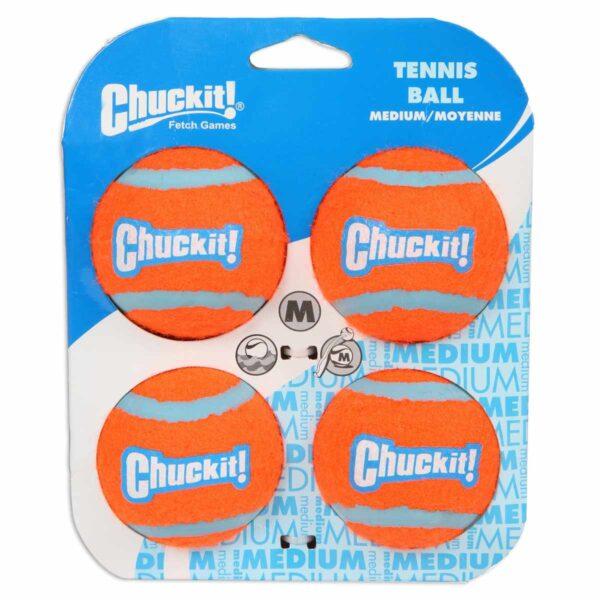 Chuckit Tennis ball medium 4pack