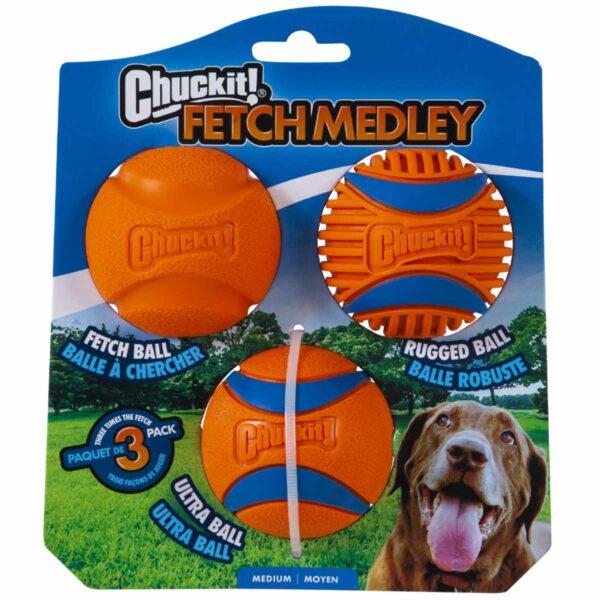 Chuckitt Fetchmedley 3 pack Medium