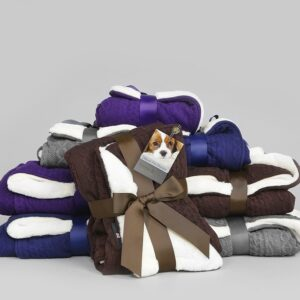 George Barclay Aran Knit Deluxe Pet Blanket