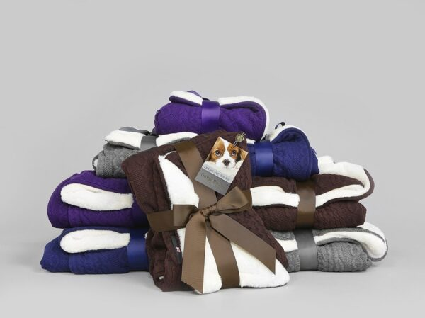 George Barclay Aran Knit Deluxe Pet Blanket