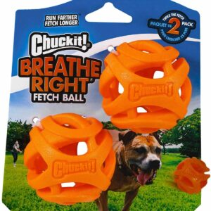 Chuckit Breath right fetch ball 2 pack medium
