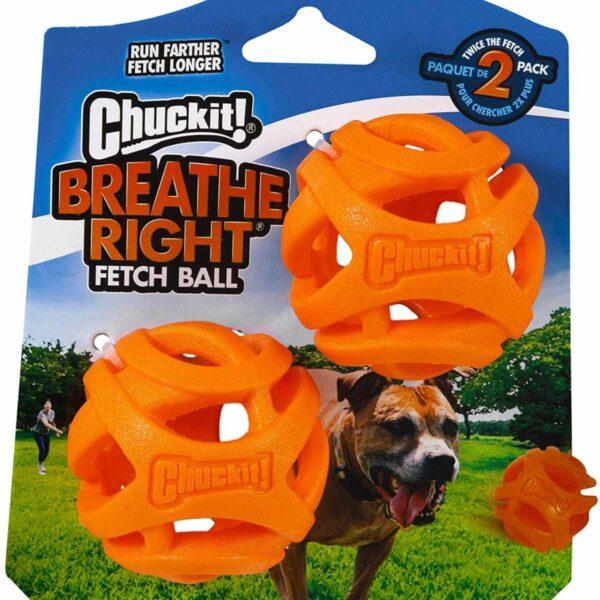 Chuckit Breath right fetch ball 2 pack medium