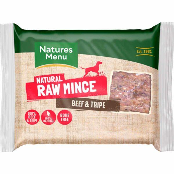 Natures Menu Natural Raw Mince Beef & Tripe 400g