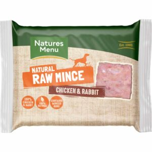 Natures Menu Natural Raw Mince Chicken & Rabbit 400g