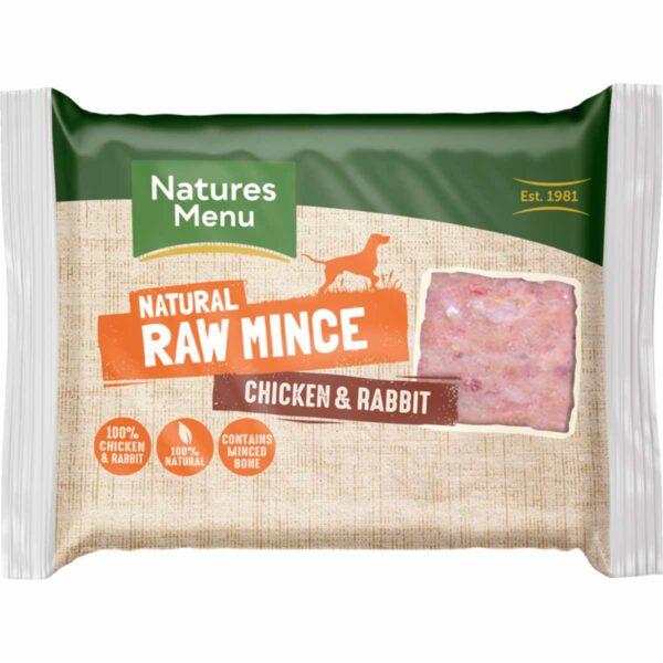 Natures Menu Natural Raw Mince Chicken & Rabbit 400g