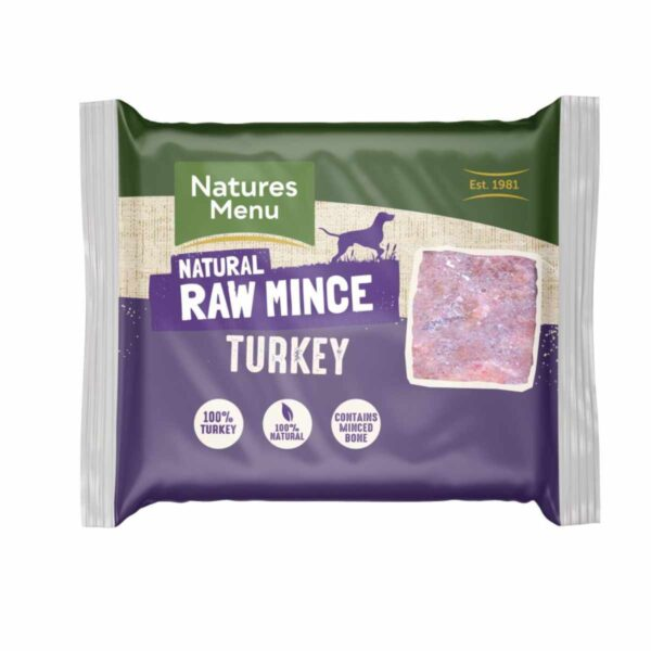 Natures Menu Natural Raw Mince Turkey 400g