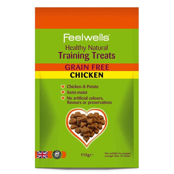 Healthy Training Grain Free Chicken Treats 115g