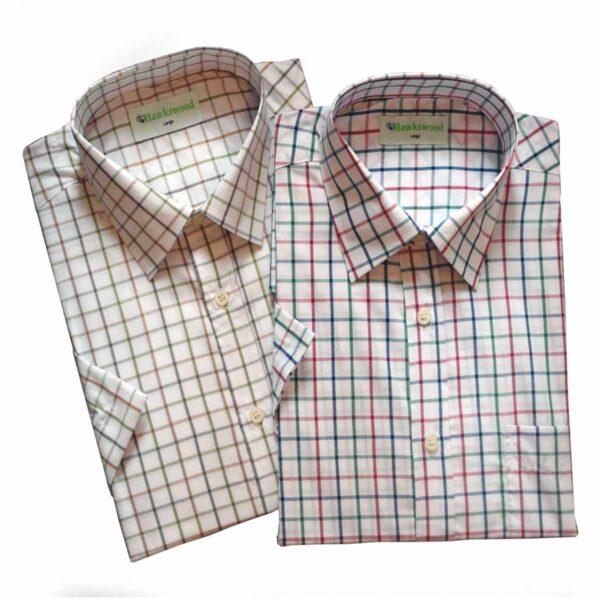 Hawksward Country Classics Mens Short Sleeve Check Shirt Malvern