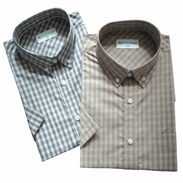 Hawksward Country Classics Mens Short Sleeve Check Shirts Dunster