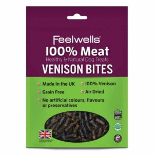 Healthy & Natural Venison Bites Dog Treat 100g