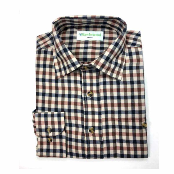 Hawksward Country Classics Mens Long Sleeve Check Shirt Warwick