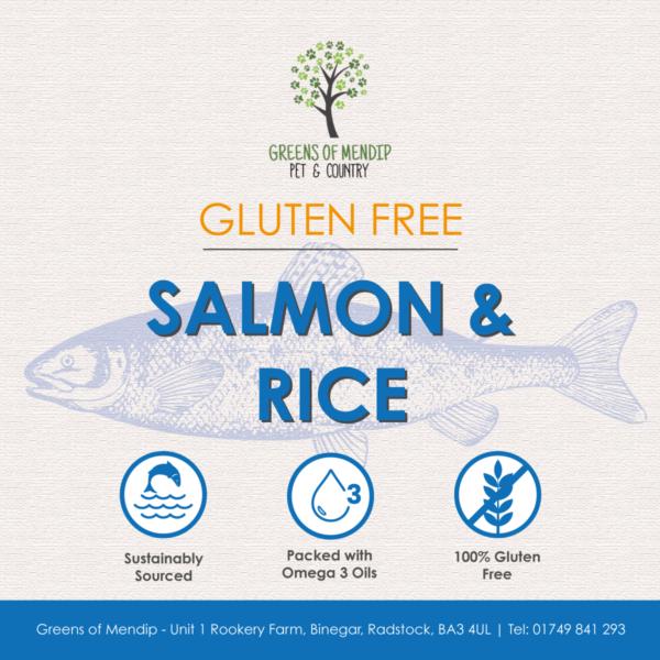 Greens Wheat Gluten Free Salmon & Rice