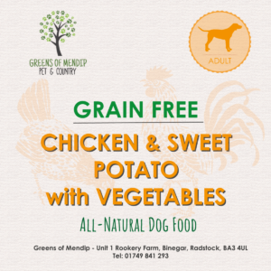 Greens of Mendip Wet Tray Grain Free Chicken Sweet Potato & Vegetables x 10