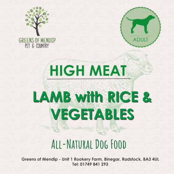 Greens of Mendip Wet Tray Lamb Rice & Vegetable 395g x 10